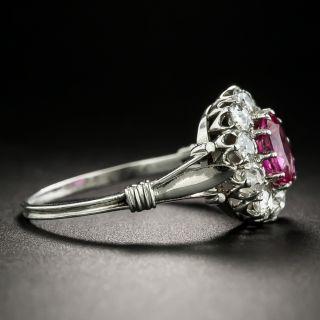 Edwardian No-Heat Burmese 1.00 Carat Ruby and Diamond Ring - GIA