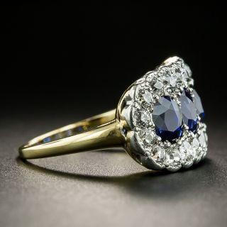Edwardian No-Heat Four-Stone Sapphire and Diamond Ring
