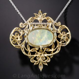 Edwardian Opal and Diamond Necklace