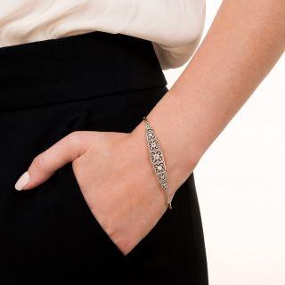 Edwardian Openwork Diamond Bracelet