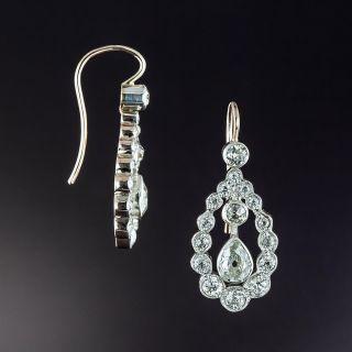 Edwardian Pear Shape Diamond Earrings