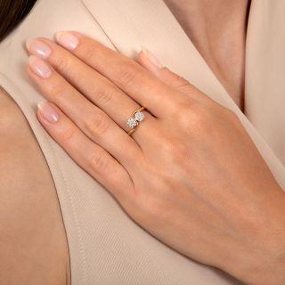 Edwardian Petite Double Diamond Cluster Ring, English