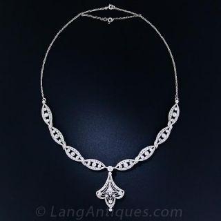 Edwardian Platinum and Diamond Necklace