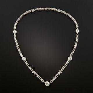 Edwardian Platinum Diamond Necklace - 3