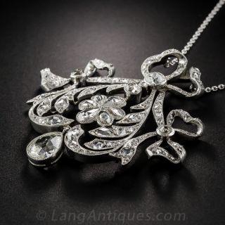 Edwardian Platinum Diamond Pendant Necklace