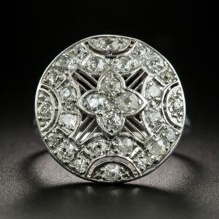 Edwardian Round Diamond Dinner Ring - 2
