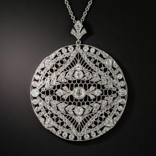 Edwardian Diamond Openwork Pendant - 3