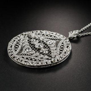Edwardian Round Diamond Platinum Pendant