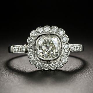 Edwardian Style 1.00 Carat Diamond Halo Engagement Ring - 2