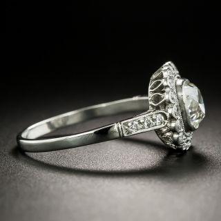 Edwardian Style 1.00 Carat Diamond Halo Engagement Ring