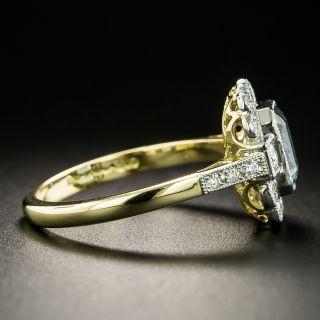 Edwardian Style 1.16 Carat Aquamarine and Diamond Ring