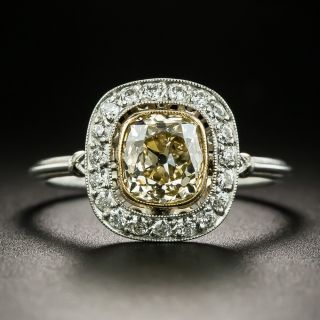 Edwardian Style 1.42 Natural Brown Diamond Engagement Ring - 2