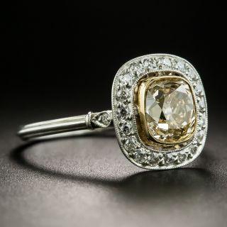 Edwardian Style 1.42 Natural Brown Diamond Engagement Ring