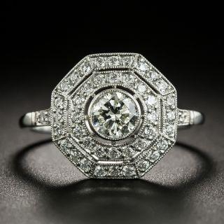 Edwardian Style .48 Carat Octagonal Diamond Ring - 3