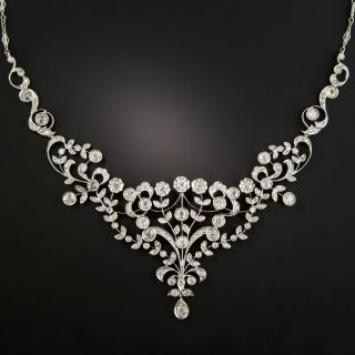 Edwardian Style Diamond Bib Necklace  - 1
