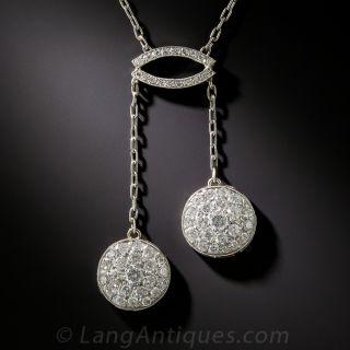 Edwardian Style Diamond Negligee Necklace - 1