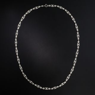 Edwardian Style Diamond Open Link Necklace