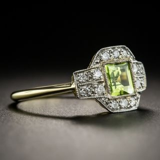 Edwardian Style Peridot and Diamond Ring