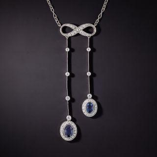 Edwardian Style Sapphire and Diamond Negligee Necklace - 0