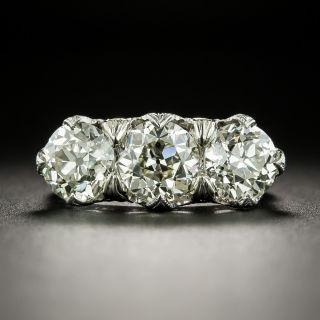 Edwardian Three-Stone 3.81 Carat Total Weight Diamond Ring - GIA - 2