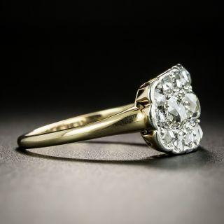 Edwardian Three-Stone Diamond Cluster Ring