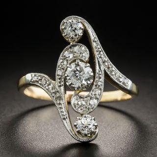 Edwardian Three-Stone Diamond Dinner Ring - 2