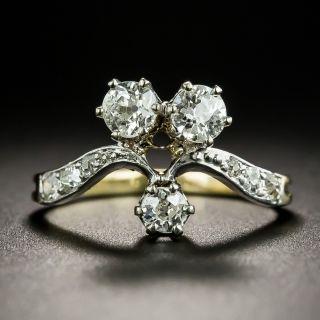Edwardian Three-Stone Diamond Ring - 1