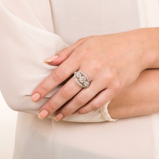 Edwardian Three-Stone Diamond Ring