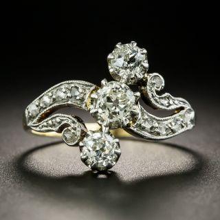 Edwardian Three-Stone Diamond Ring - 2