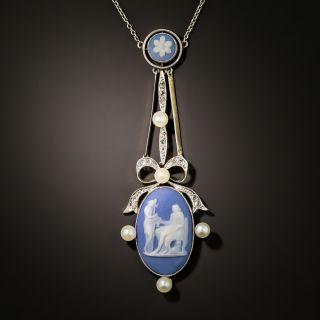 Edwardian Wedgewood and Diamond Necklace - 3