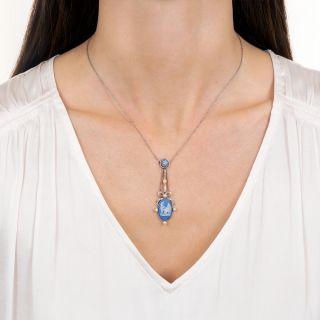 Edwardian Wedgwood and Diamond Necklace