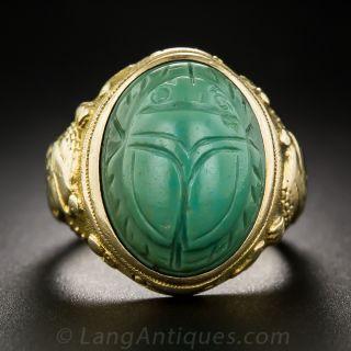 Egyptian Revival Scarab Ring