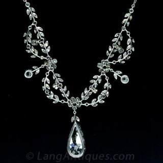 Elegant Belle Epoque Diamond Necklace
