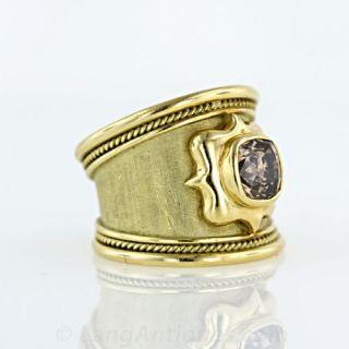 'Elizabeth Gage' Diamond Templar Ring