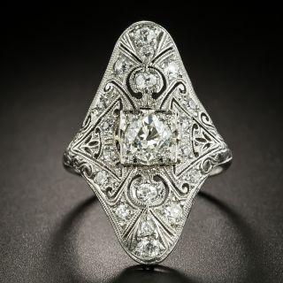 Elongated Art Deco Diamond Dinner Ring - 2