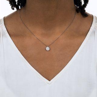 Emerald-Cut Diamond Cluster Pendant