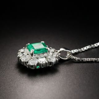 Emerald Platinum Diamond Drop