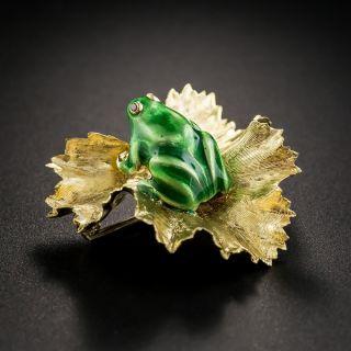 Enameled Frog Pin by Kurt Gutmann - 2