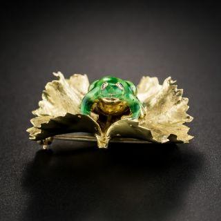 Enameled Frog Pin by Kurt Gutmann