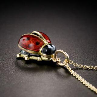 Enameled Lady Bug Drop
