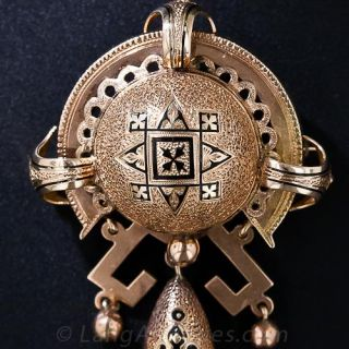 Enameled Victorian Brooch