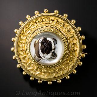 English Bulldog Reverse Crystal Pin