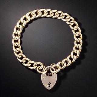 English Curb Chain Gate Bracelet, 1906 - 1