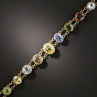 English Edwardian Multi-Gemstone Bracelet - 2