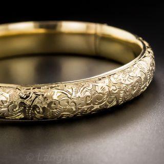 English Engraved Bangle Bracelet