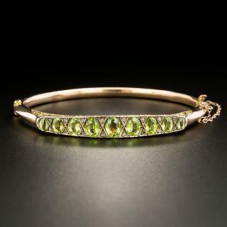 English Garnet and Glass Doublet Bracelet c.1911 - 2
