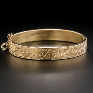 English Victorian 9K Rose Gold Bangle Bracelet