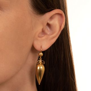 English Victorian Amphora Earrings