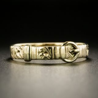 English Victorian Buckle Band, Size 9 1/2 - 2