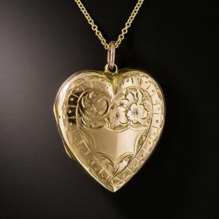 English Victorian Heart Locket - 2